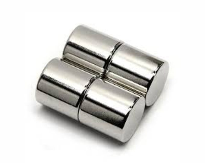 """MagnaKoys®  4 pcs. 12.7mm x 12.7mm (1/2"""" x 1/2"""") Powerful Neodymium Rare Earth Cylinder Magnets for Crafts, Geocaching, survival Gear"""