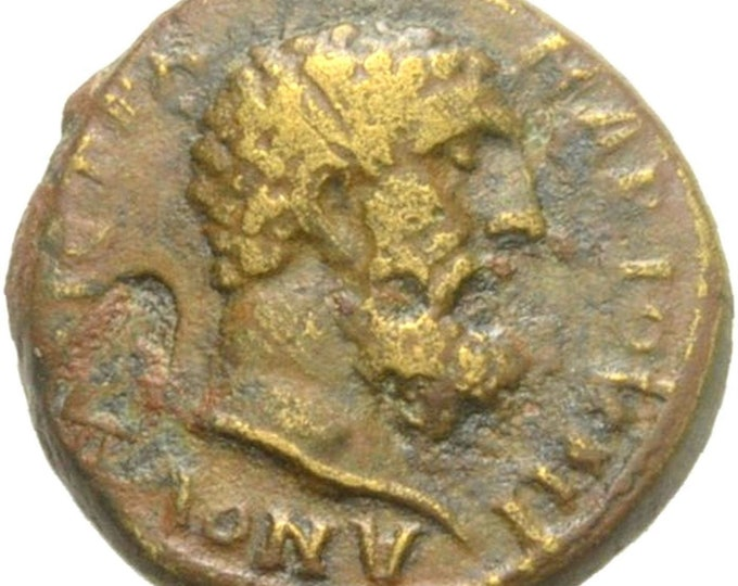 Vintage Ancient Greek Bronze Coin of Lydia Nacrasa HERAKLES AMPHALOS Very Rare
