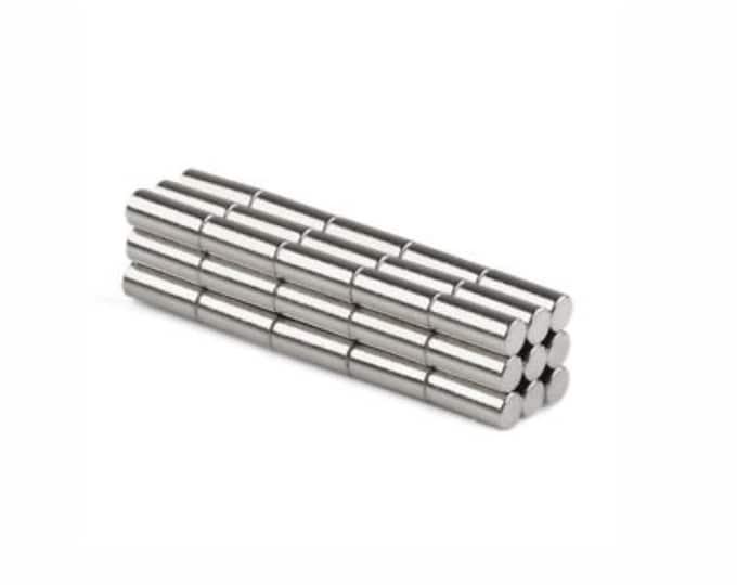 "MagnaKoys®  23 pcs. 2mm x 5mm (5/64"" x 13/64"") Tiny Neodymium Rare Earth Cylinder Magnets for Crafts, Miniatures"