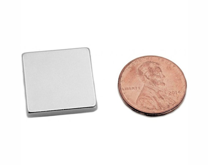 MagnaKoys® Strong 3/4 x 3/4 x 1/8 Powerful Neodymium Rare Earth Block Magnets for Crafts Geocaching, Gear