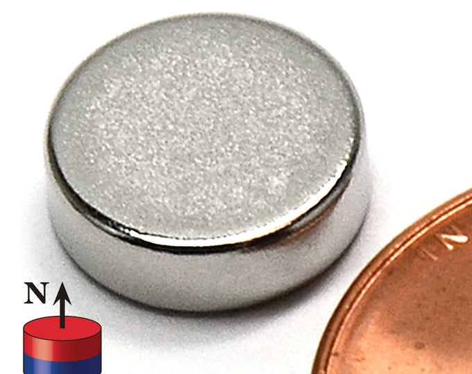"""MagnaKoys® 10mm x 3mm (3/8"""" x 1/8"""") Neodymium Rare Earth Disc Magnets for Crafts, Geocaching, dollhouses, & Survival Gear"""