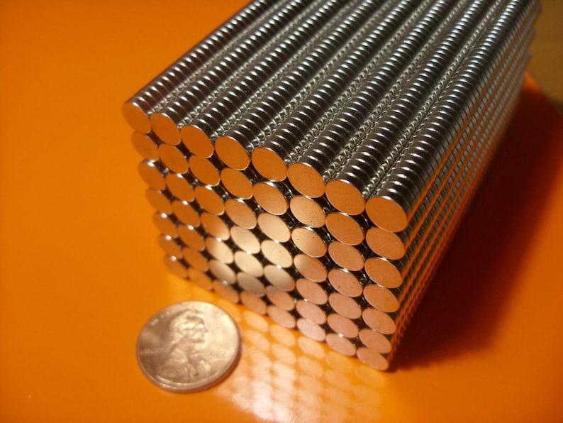100 pieces Bottle Cap Crafts Neodymium Rare Earth Magnets 1/4 image 0