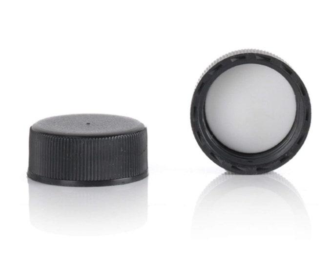 Magnakoys® Black 22-400 Continuous Thread Closure Twist Screw Caps for Vials
