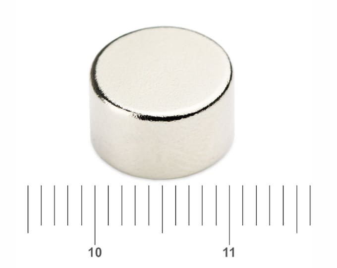"""MagnaKoys®  4 pcs. 10mm x 6.35mm (3/8"""" x 1/4"""") Neodymium Rare Earth Disc Magnets for Crafts, Geocaching"""