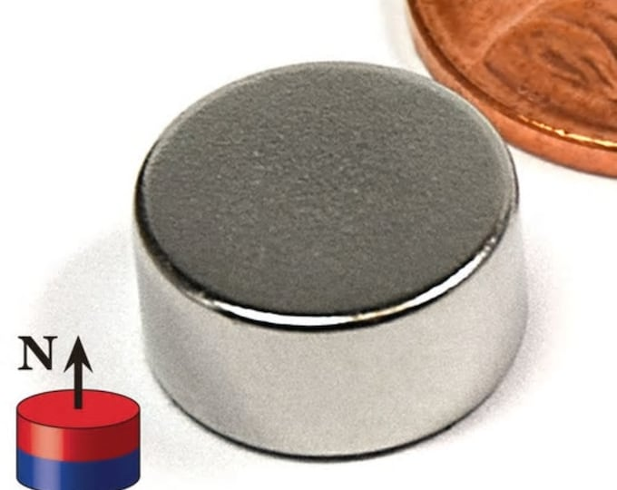 """MagnaKoys®  4 pcs. 12.7mm x 6mm (1/2"""" x 1/4"""") Powerful Neodymium Rare Earth Disc Magnets for Crafts, Geocaching, survival Gear"""