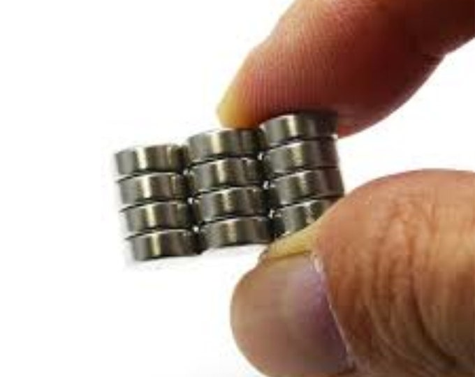 """MagnaKoys®  20 pcs. 8mm x 3mm (5/16"""" x 1/8"""") Neodymium Rare Earth Disc Magnets for Crafts, Geocaching, dollhouses, & Miniature"""