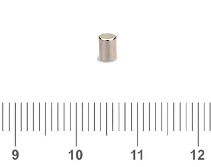 "MagnaKoys®  32 pcs. 3mm x 3mm (1/8"" x 1/8"") Tiny Neodymium Rare Earth Cylinder Magnets for Crafts, Miniatures"