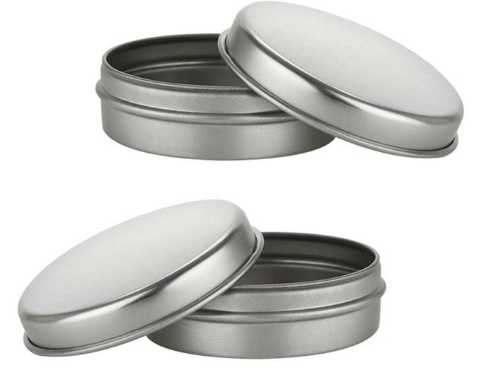 MagnaKoys 1oz Slip Slide Top Round Tin Containers for Crafts Cosmetics Candles Geocaching