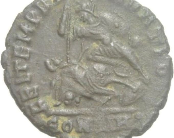 Vintage Ancient Roman Coin Constantius II Augustus rider fall Constantinopolis
