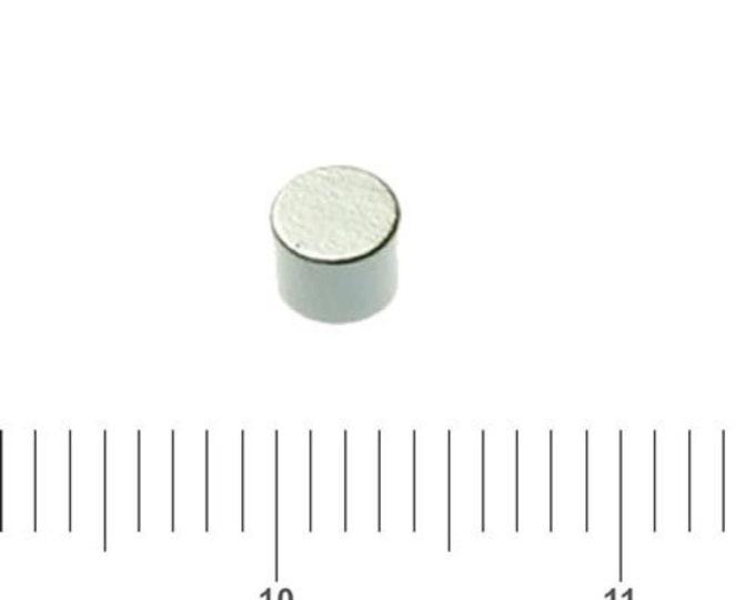 "MagnaKoys®  24 pcs. 4mm x 3mm (5/32"" x 1/8"") Tiny Neodymium Rare Earth Disc Magnets for Crafts, Miniatures"