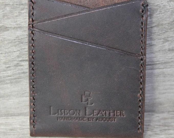 "Lisbon Leather -  ""The Lux CB"" Men's Card Wallet"