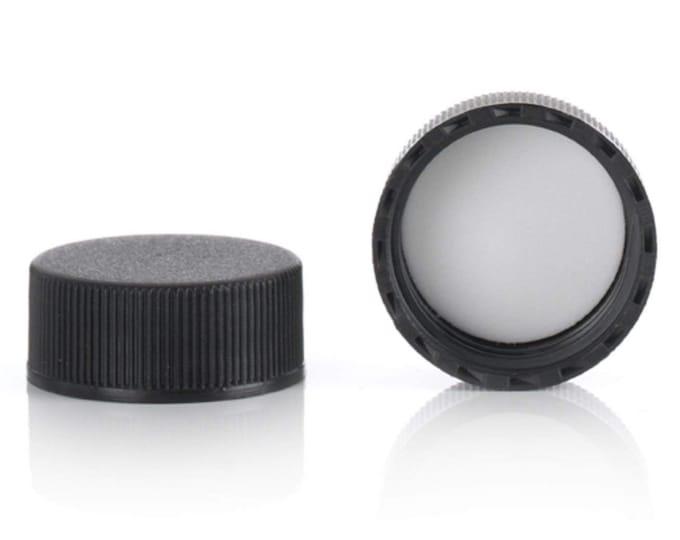 Magnakoys® Black 24-400 Continuous Thread Closure Twist Screw Caps for Vials