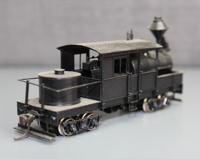 """Vintage Painted Brass HO Scale Class """"A"""" Climax by Nakamura Seimitsu Japan Model Train Collection"""