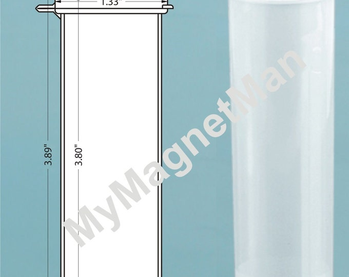 """MagnaKoys® 4"""" Clear 2oz Polypro Plastic Craft Storage Vials with Attached Hinged Lid Containers"""