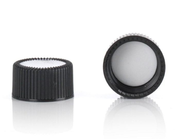 Magnakoys® Black 18-400 Continuous Thread Closure Twist Screw Caps for Vials