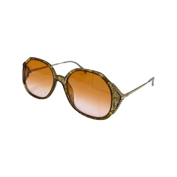 80's/90's CHRISTIAN DIOR Sunglasses Eyewear Metal & Optyl Frames Peach Lenses Designer High Fashion Boho Hippie Made in Germany