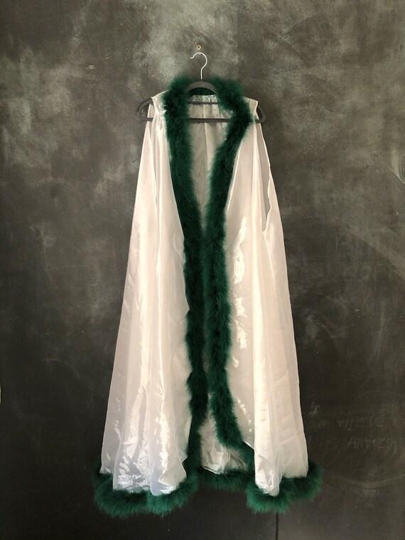 1990's White Iridescent Sheer Polyester Chiffon Ro
