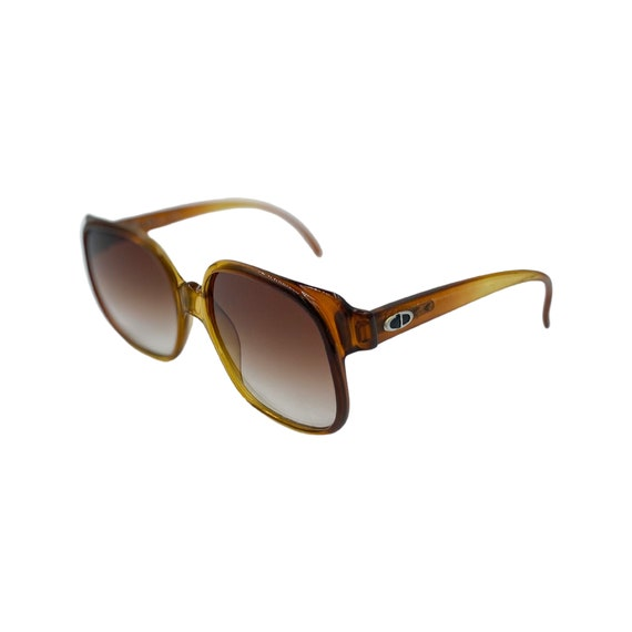 1970's Christian Dior Optyl Plastic Sunglasses Eyewear Made in Germany Brown Frames Brown Gradient Lenses Designer High Fashions Style 2017