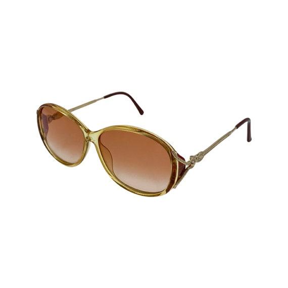 90's CHRISTIAN DIOR Sunglasses Eyewear Metal & Optyl Frames Red Rose Lenses Designer High Fashion Boho Hippie Made in Austria Style 2708
