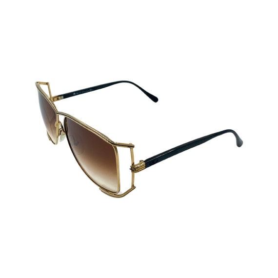 Rare 80's 90's CHRISTIAN DIOR Sunglasses Style 2688 Eyewear Gold Metal Frames Brown Lens Designer High Fashion Boho Hippie Made in Italy
