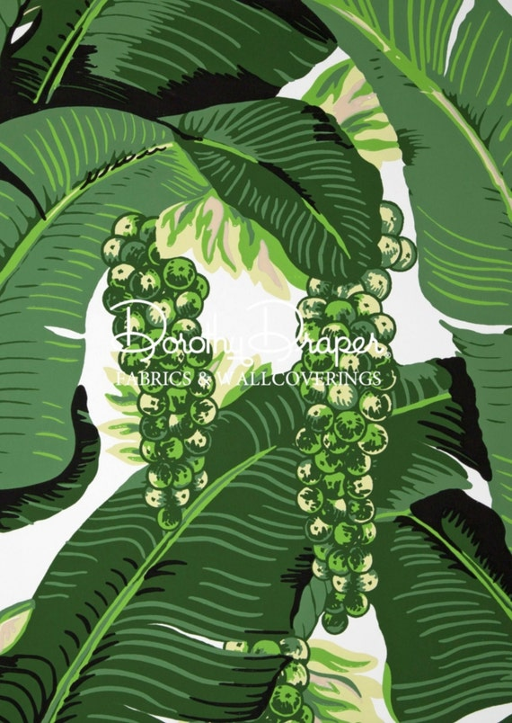 Dorothy Draper Brazilliance Wallpaper Banana Leaf