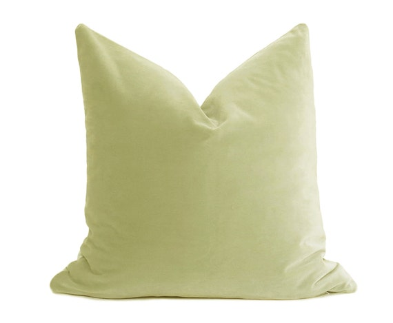 Pistachio Velvet Pillow Cover Belgium Velvet Citrine Pillow Light Green Pillow Velvet Pillow Throw Pillow Green Pillow Cover