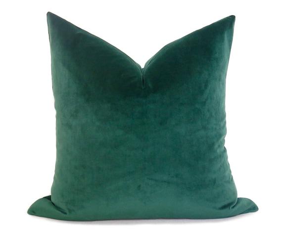 Emerald Green Velvet Pillow Cover PLUSH
