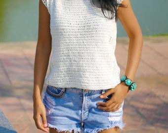 Crochet top pattern ,Beginner summer top,pdf, easy crochet pattern,crochet tank top
