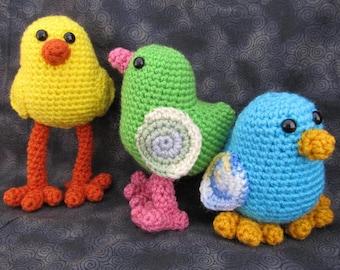 Chicka Chickah Chick Crochet Amigurumi Bird Pattern