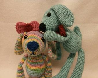 Pepper the One Skein Puppy Crochet Amigurumi Pattern