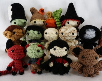 Wee Spooky Halloween Crochet Amigurumi Pattern Set