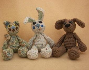 Smidgeons Bunny, Cat and Dog Crochet Amigurumi Pattern