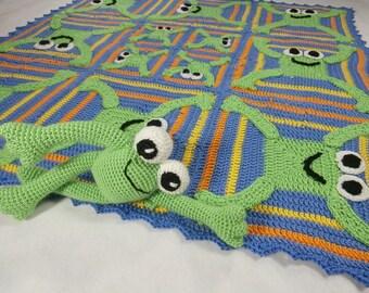 Tic Tac Toad Frog Afghan and Amigurumi Pattern