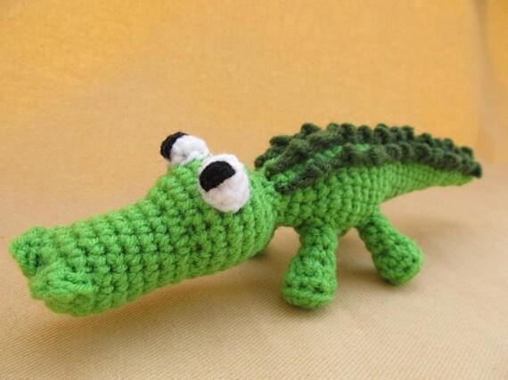 Ally Gator Crochet Amigurumi Alligator Pattern Etsy