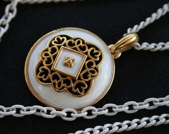 1970's Three-Chain Necklace w/ Unique Charm