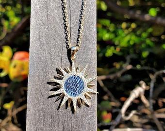 Starburst Gold Stainless steel denim necklace