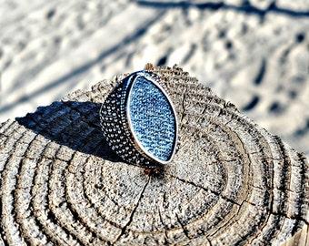 Denim Jeans Dragon Eye ring