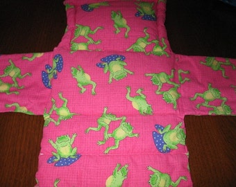 SALE - Padded Infant Changing Pad Clutch with Diaper and Wipe pockets