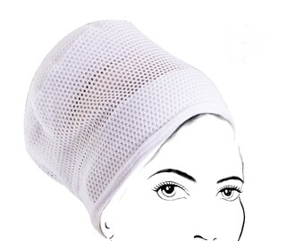 Lightweight Mesh Turban Volumizer for Summer, Tichel Volumizer, WHITE, FREE shipping to US