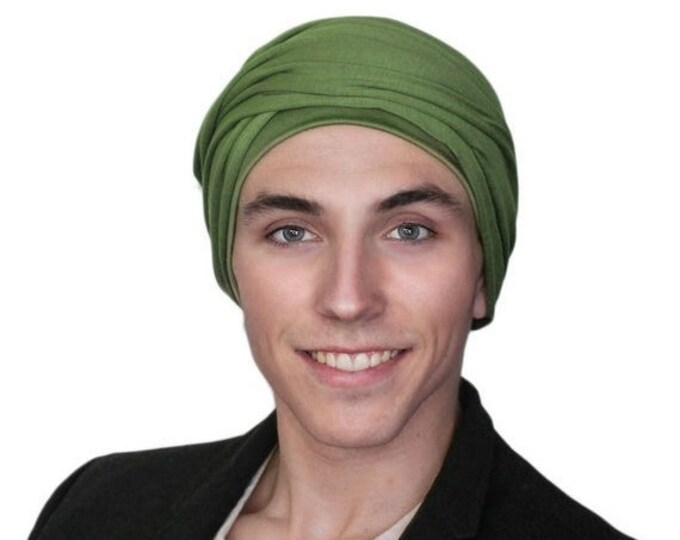 RETIREMENT SALE Men's Turban, Olive Green Turban, Dreads Wrap, Motorcycle Scarf, Gifts for Men, Tactical Scarf