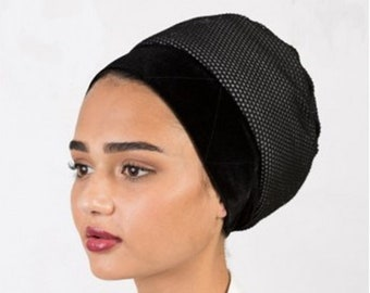 2-PACK Turban MESH Volumizer, Tichel Volumizer, Black or White 2 Pack, FREE Shipping