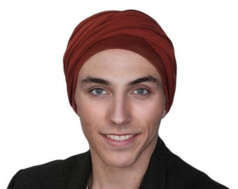 Men's Turban,  Man's Rust Turban,Man's Head Wrap, Dreads Wrap, Ski Hat, Motorcycle Scarf, Tactical Scarf