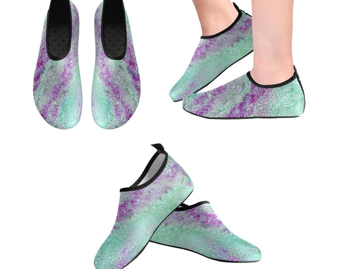 Yoga Shoes, Barefoot Shoes, Women's Shoes, Kids Shoes, Flat Shoes, Slip-ons, Casual Shoes, Teal, Green, Purple, Artsy Shoes