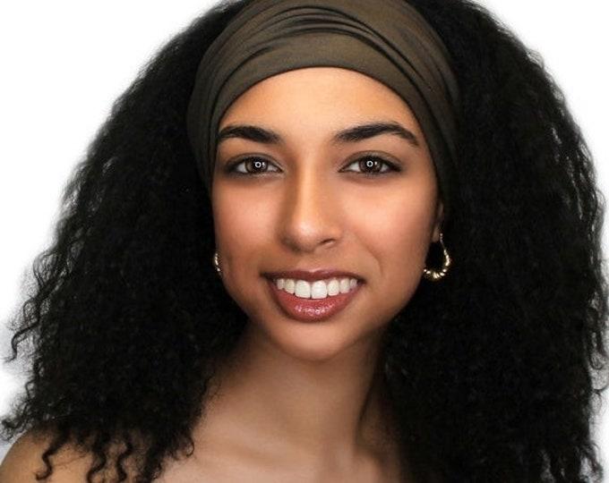 RETIREMENT SALE Turban Headband, Yoga headband, Brown Headband, Wide Headband, Exercise Headband, Pretied Turban, Brown