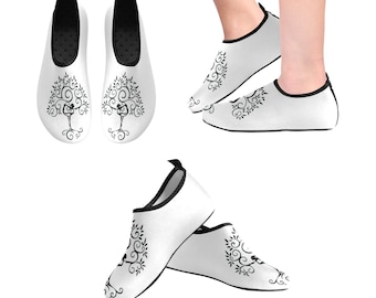 Yoga Shoes, Barefoot Shoes, Women's Shoes, Kids Shoes, Flat Shoes, Slip-ons, Casual Shoes, Tree of Life, White, Black, Artsy Shoes