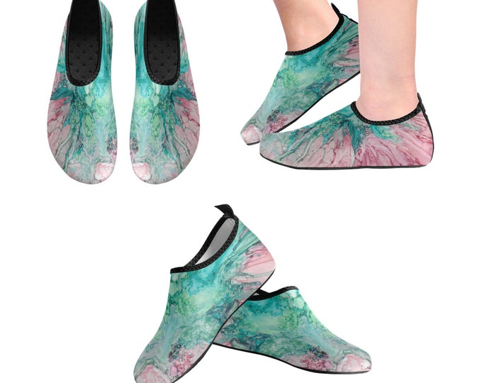 Yoga Shoes, Barefoot Shoes, Women's Shoes, Kids Shoes, Flat Shoes, Slip-ons, Casual Shoes, Teal, Green, Pink, Artsy Shoes