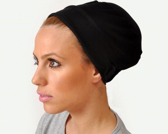 2-PACK Turban Volumizer, Tichel Volumizer, Black or White 2 Pack