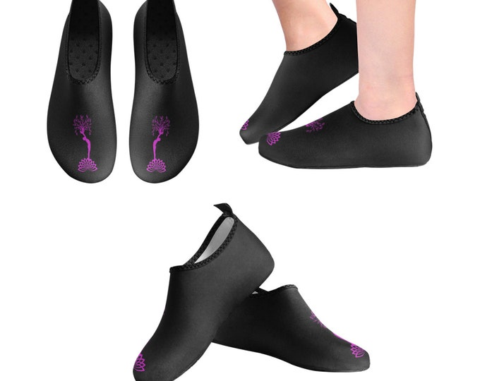 Yoga Shoes, Barefoot Shoes, Women's Shoes, Kids Shoes, Flat Shoes, Slip-ons, Casual Shoes, Tree of Life,  Black, Pink, Artsy Shoes