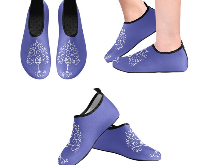 Yoga Shoes, Barefoot Shoes, Women's Shoes, Kids Shoes, Flat Shoes, Slip-ons, Casual Shoes, Purple, Tree of Life, Artsy Shoes