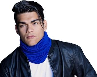 Men's Blue Turban, Man's Head Wrap, Dreads Wrap, Ski Hat, Motorcycle Scarf, Man's Blue Turban, Tactical Scarf